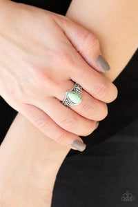 The Zest Of Intentions - Green Ring - Paparazzi Accessories