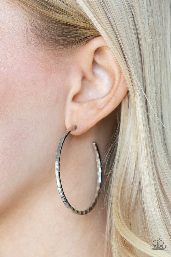 Totally Throwback - Silver Earrings - Paparazzi Accessories