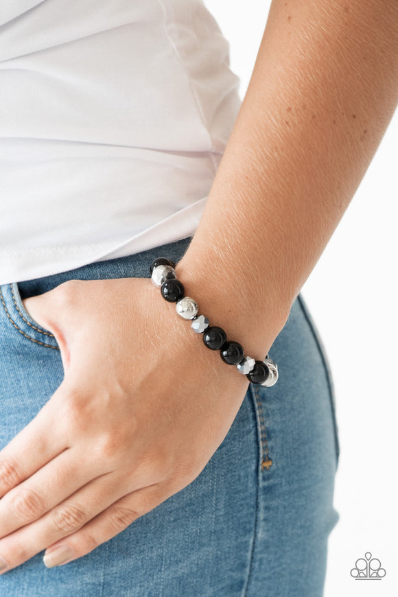 Very VIP - Black Bracelet - Paparazzi Accessories