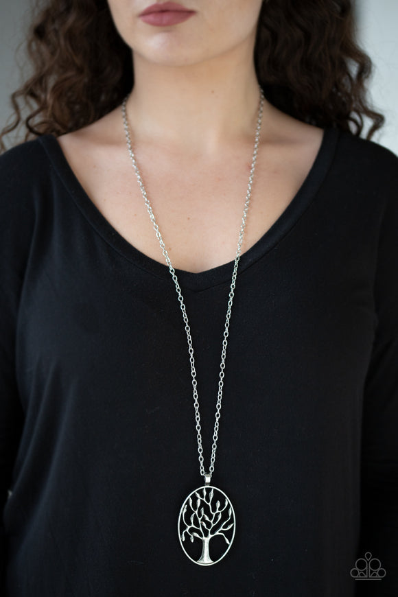 Well-Rooted - Silver Necklace - Paparazzi Accessories