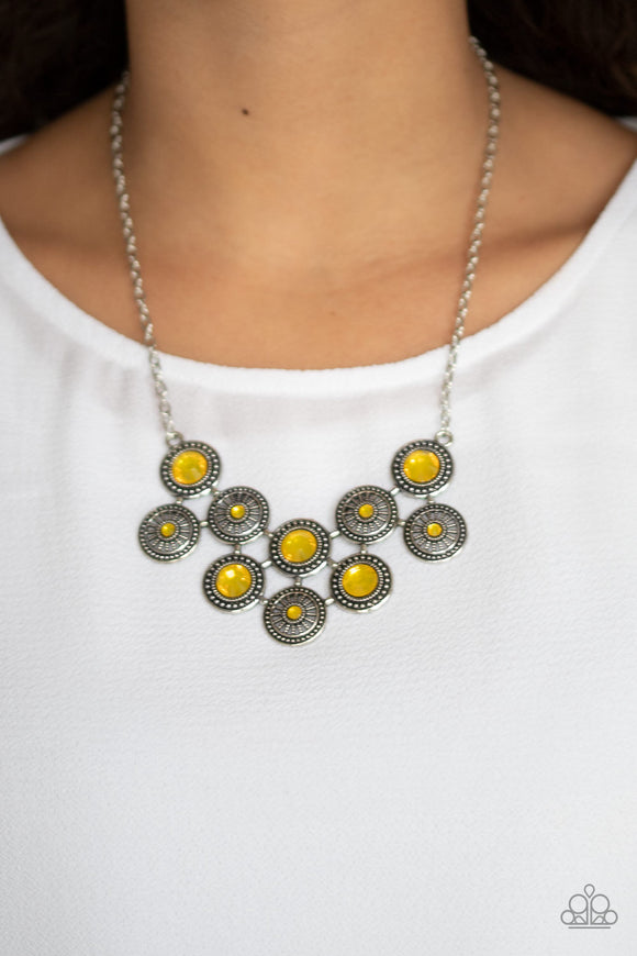 Whats Your Star Sign? - Yellow Necklace - Paparazzi Accessories