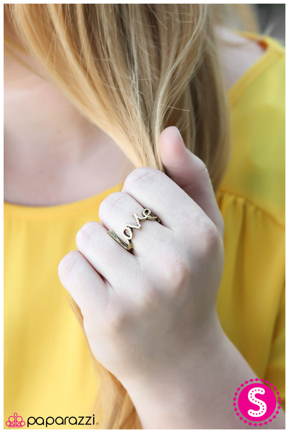 Young Love - Brass Ring - Paparazzi Accessories