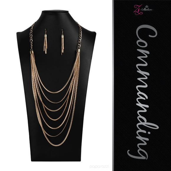 Commanding - 2020 Zi Collection Necklace - Paparazzi Accessories
