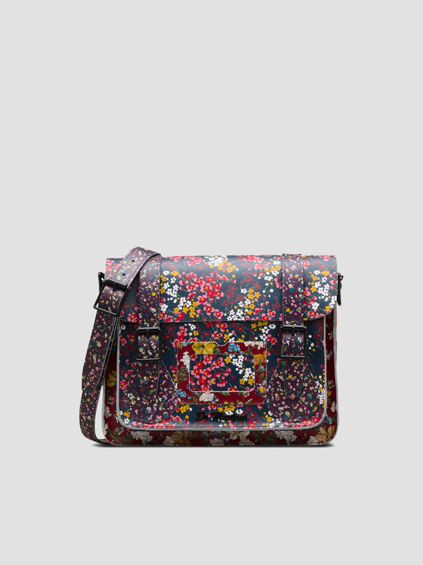 Floral Leather Satchel