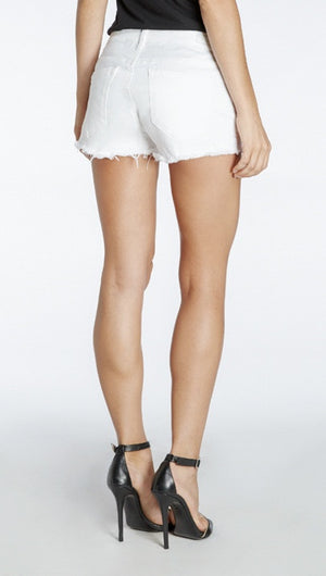Blank Denim Cut Off short In WHITE LINES