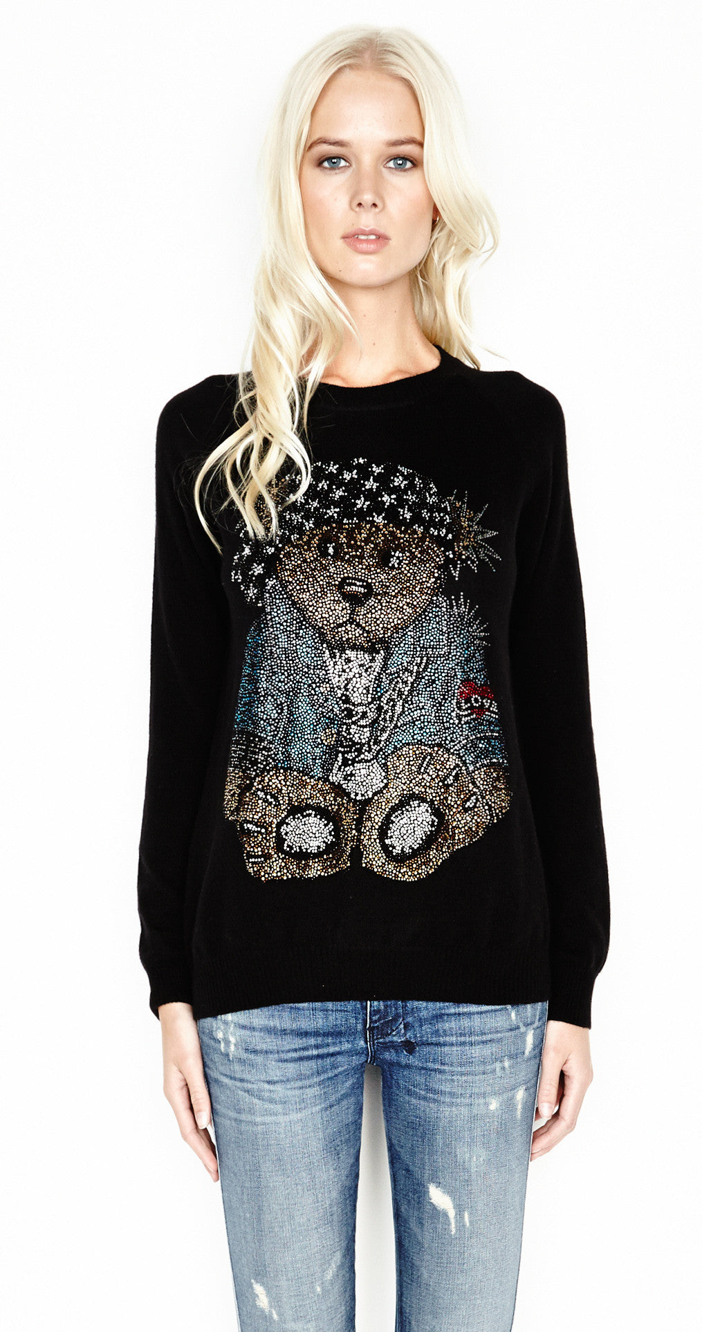 Lauren Moshi LOVIE-BOYFRIEND Sweatshirt In Black