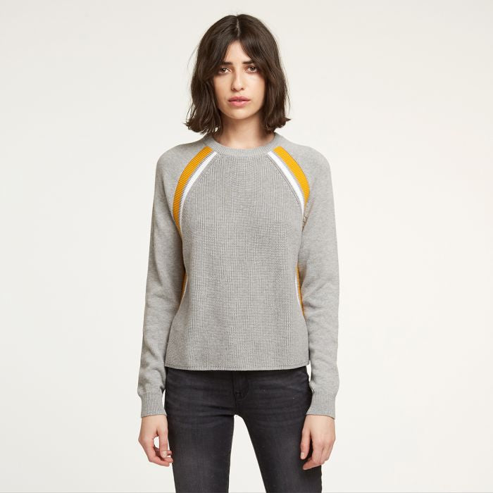Athletic shakers, raglan in gray combo