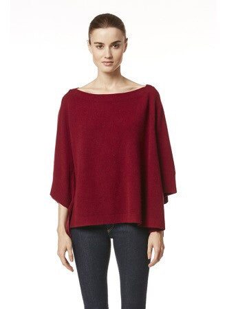 360 Cashmere LAINE Pullover Sweater In OXBLOOD