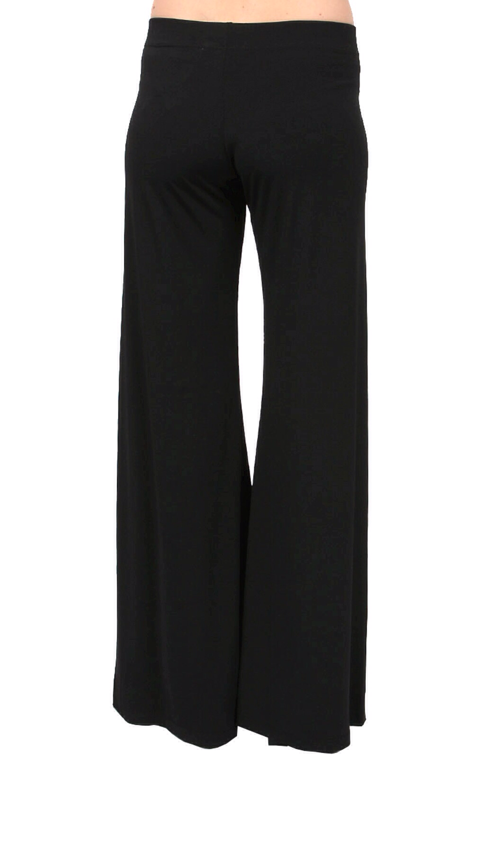 Veronica M Wide Leg Pants no pocket in solid black