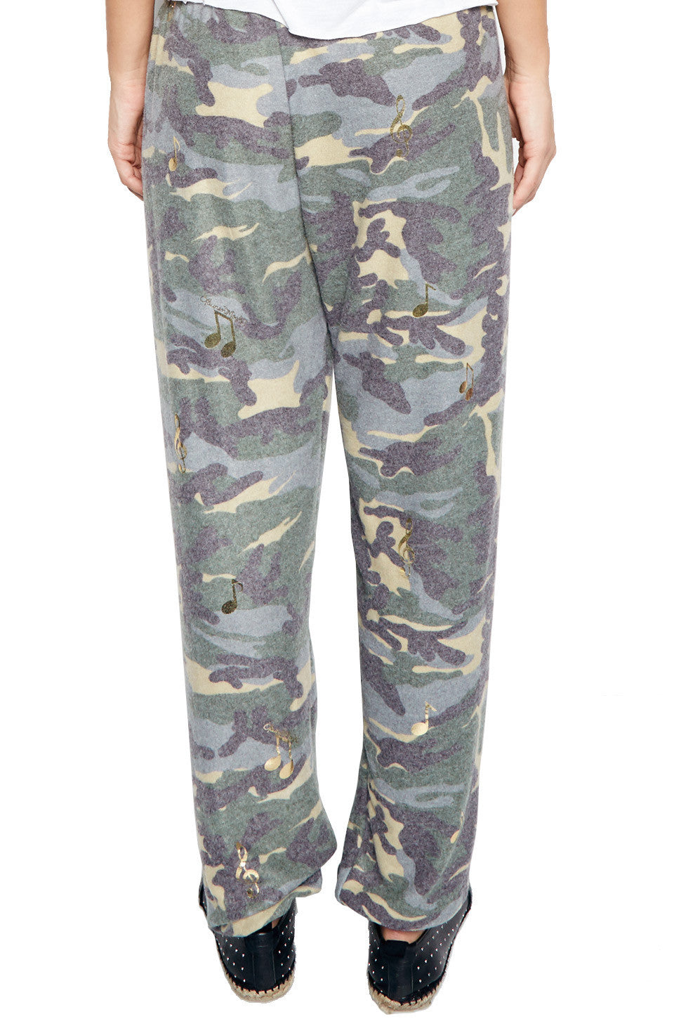 TANZY ALLOVER MUSIC NOTES LONG PANT