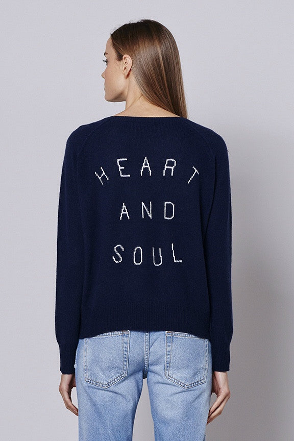 360 Sweater HEART AND SOUL Wide scoop neck pullover