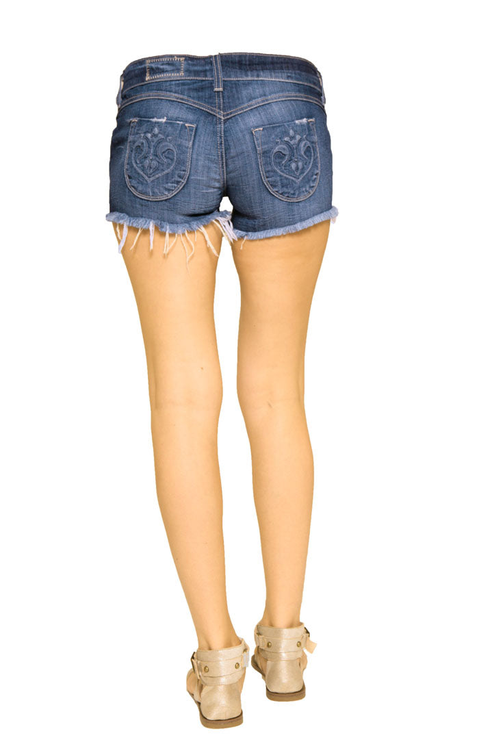 Siwy Denim Camilla Cut Off Shorts in True Blue