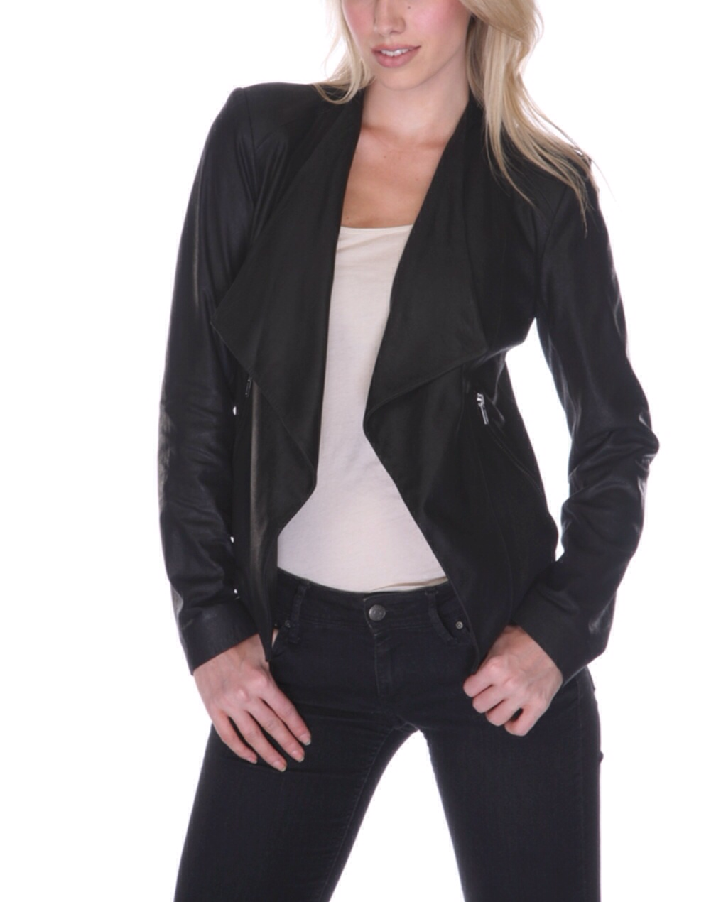My-tribe Leather Jacket In Black