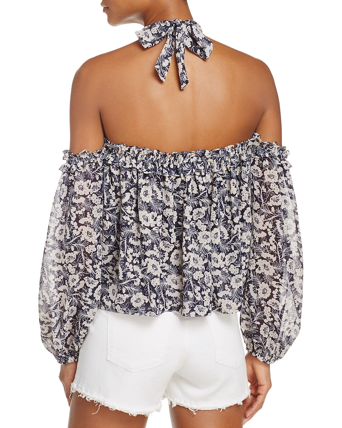 Lively Top dark floral