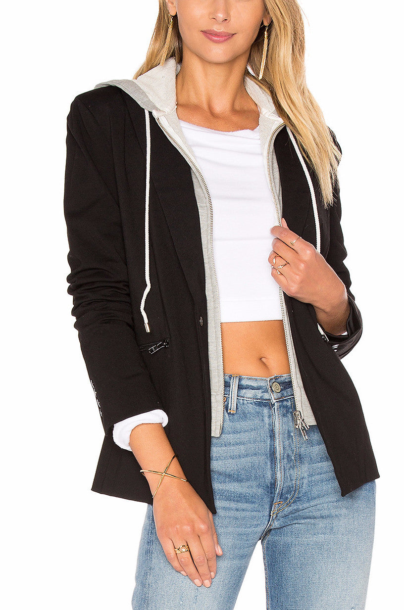 SAVANNAH HOODED BLAZER