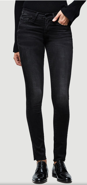 Le Skinny De Jeanne Raw Edge Slit Rivet
