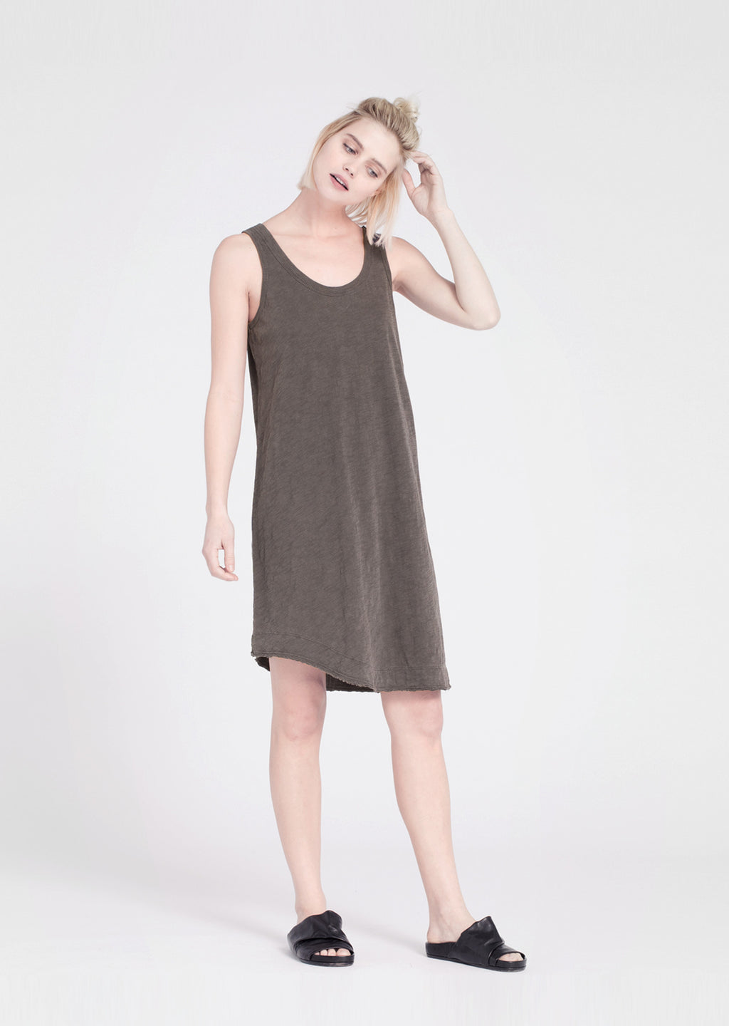 Twisted Hem Tank Dress