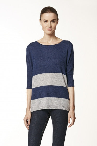 360 Cashmere ABIGAIL Pullover Sweater In Midnight