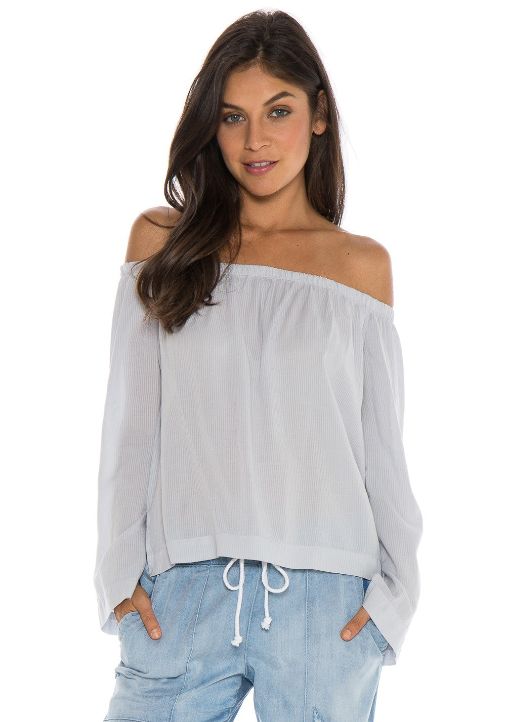 Long Sleeve Off Shoulder Top