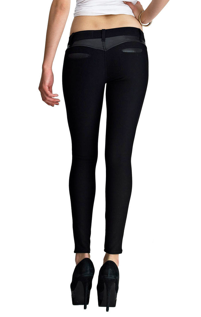 Siwy Denim Blanca slim Crop jeans in Black Is Black