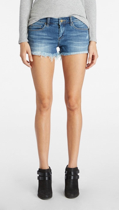 Blank Denim Cut Off short In BI POLAR COASTER