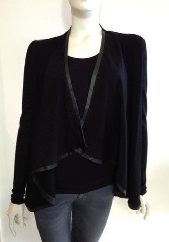 Central Park West Swanee Knit Cardigan in black