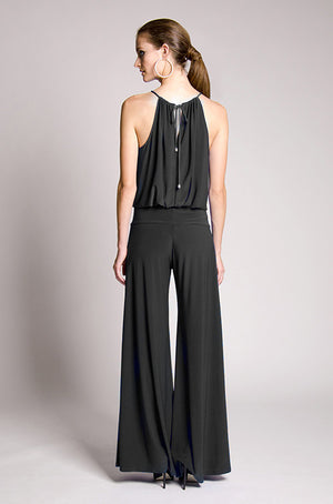 Julian Chang Halter Jumpsuit In Navy