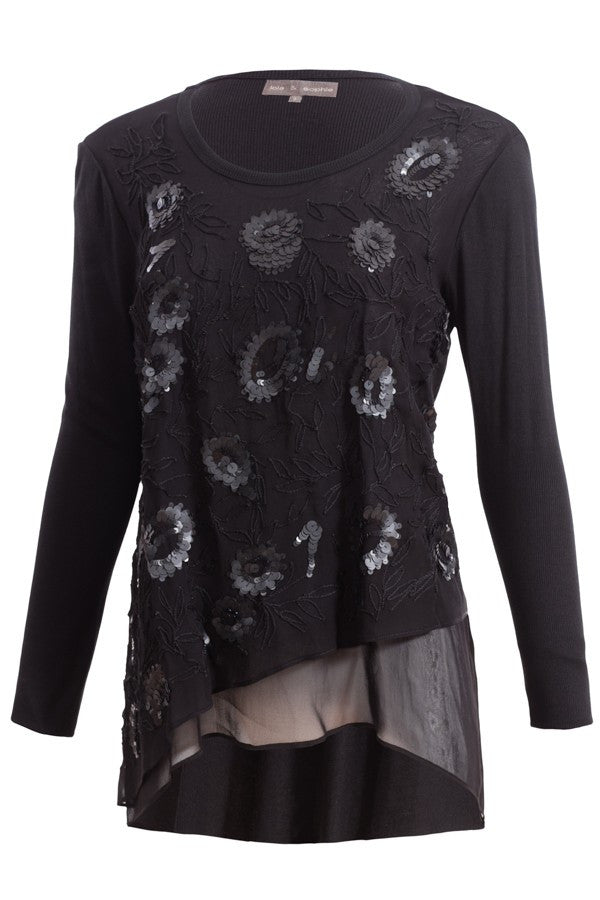 Lola & Sophie Layered Floral Top