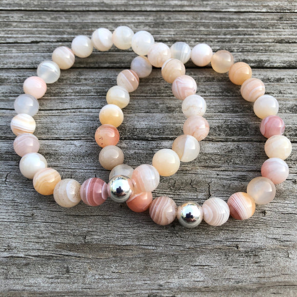 Persian Gulf Agate with Sterling Silver Bracelet