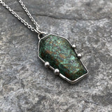 Chinese Turquoise Coffin Necklace