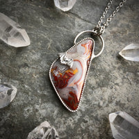 Laguna Lace Agate Bat Necklace