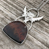 The Devil - Flame Agate Necklace