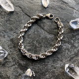 Double Spiral Sterling Silver Chainmaille Bracelet