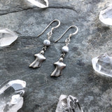 Ghost Earrings with Howlite