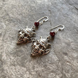 Devil with Garnet Earrings