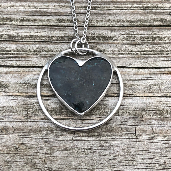 Labradorite Heart Necklace