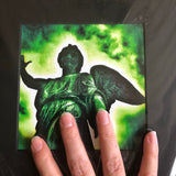 Green Grunge Angel Matted Photograph