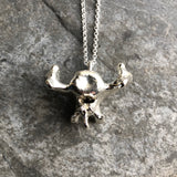 Porcupine Vertebrae Sterling Plated Electroform Necklace style 3