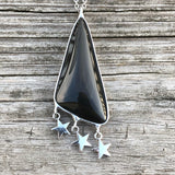 Rainbow Obsidian with Stars Necklace