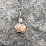 Ethiopian Opal with Australian Sand Potion Bottle Necklace