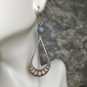 Moon Phase with Angelite Earrings