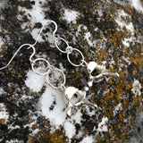 Rabbit Vertebrae Sterling Plated Electroform Earrings