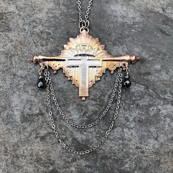 Victorian Coffin Escutcheon Necklace