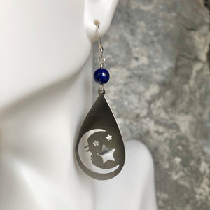 Moon Man with Lapis Earrings