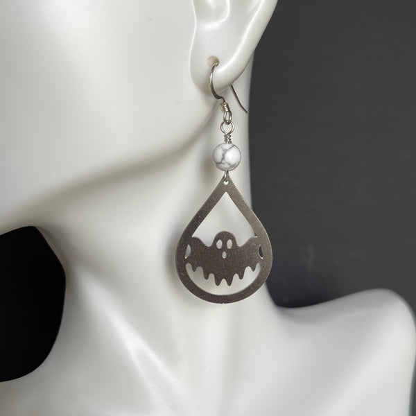 Ghosts with Howlite Earrings