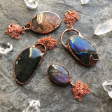 Labradorite Copper Electroform Necklace