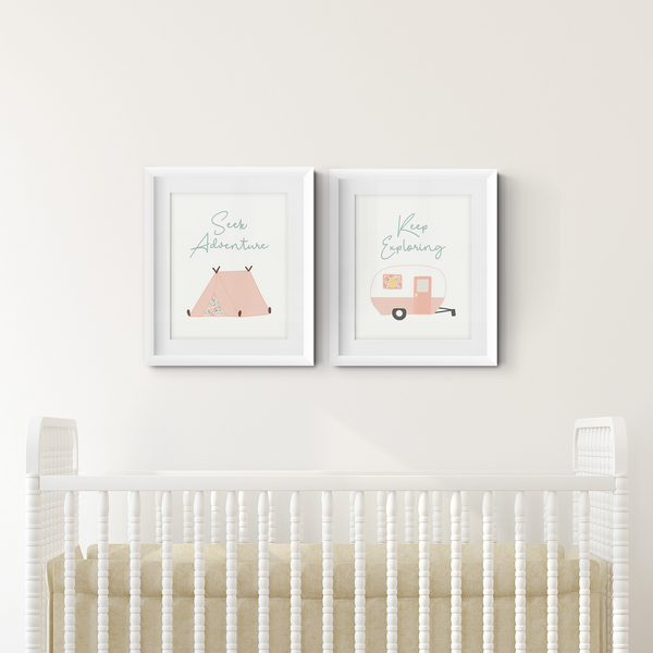 Explore and Adventure Art Prints (Set of 2)