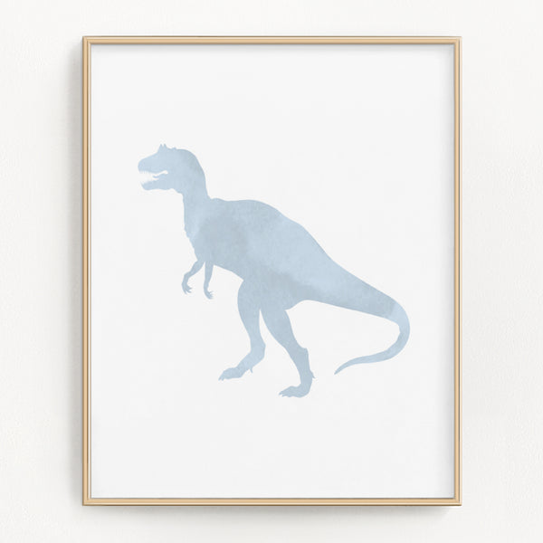 Pastel Watercolor Dinosaur Art Prints (Set of 3)