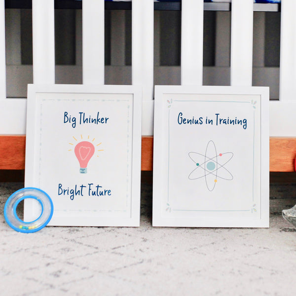 Bright Kids Science Art Prints (Set of 2)
