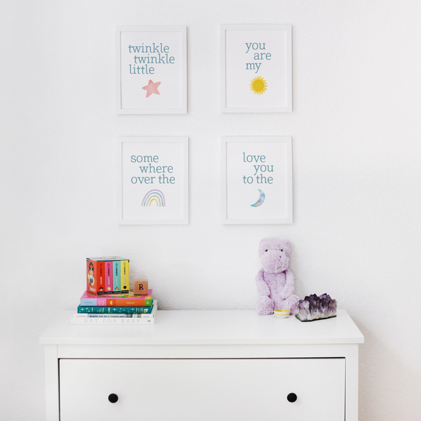 Nursery Rhyme Art Prints (Set of 4)